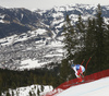 Niels Hintermann of Switzerland skiing during men downhill race of the Audi FIS Alpine skiing World cup in Kitzbuehel, Austria. Men downhill race of Audi FIS Alpine skiing World cup 2019-2020, was held on Streif in Kitzbuehel, Austria, on Saturday, 25th of January 2020.