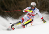Ramon Zenhaeusern of Switzerland skiing during first run of the men slalom race of the Audi FIS Alpine skiing World cup in Kitzbuehel, Austria. Men slalom race of Audi FIS Alpine skiing World cup 2019-2020, was held on Ganslernhang in Kitzbuehel, Austria, on Sunday, 26th of January 2020.